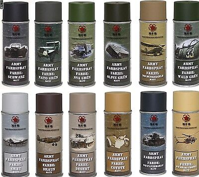 BW Army Spray can Varnish Camouflage Military color 400 ml MATTE Paint