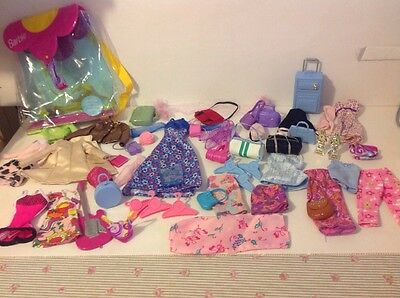 Job Lot Of Barbie Clothes And Accessories
