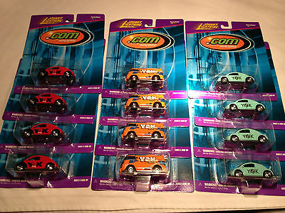 Johnny Lightning VW Volkswagen SET Y2K .com Samba BUS New Beetle Kafer NEW LOT