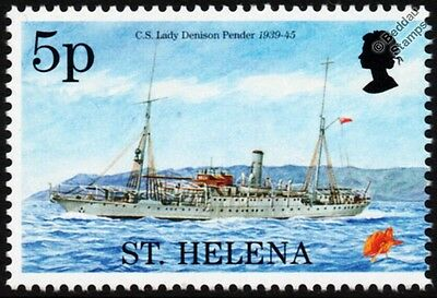 WWII CS LADY DENISON PENDER South Atlantic Cable Ship Stamp (1995 St Helena)