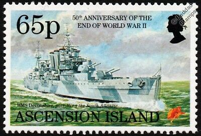 WWII HMS DEVONSHIRE (39) County-Class Heavy Cruiser Warship Stamp
