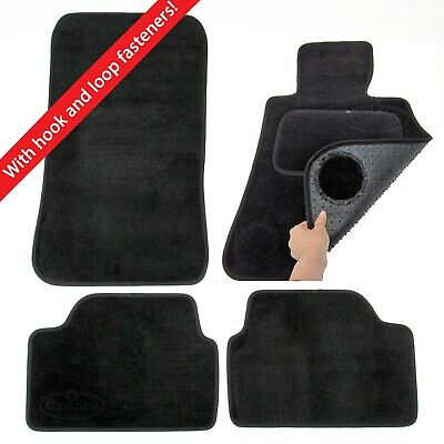 BMW 1 Series E87 2004–2011 Tailored Carpet Car Mats Black 4pcs Set Velcro Tabs
