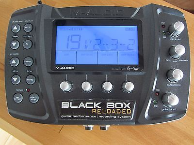 M-Audio Black Box Reloaded FX/drum machine/USB interface with pedal board