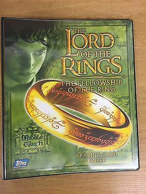 Lord Of The Rings Fellowship Of The Ring Official Topps Binder Uk Exclusive
