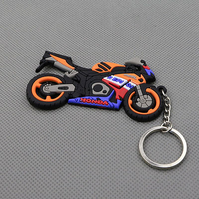 Motorcycle Rubber Keychain Key Chain Key ring Honda Repsol CBR. Free Shipping