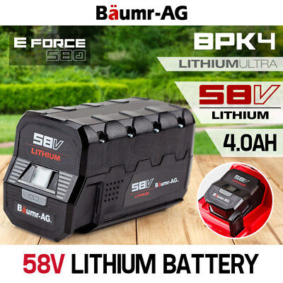 NEW BAUMR-AG 58V Lithium-Ion Battery Spare Replacement for E-Force 580 Lawnmower