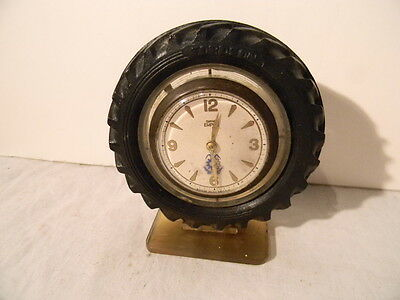 1930's Smiths Empire Fordson Tractor Tire Clock Promo Very Rare Item