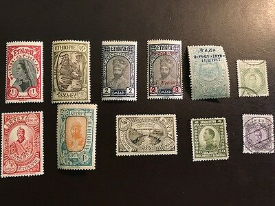 Lot of 11 Ethiopia Stamps