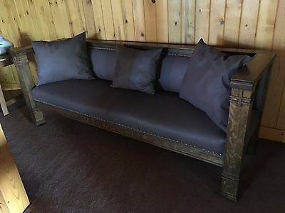 Arts and crafts antique oak sofa and settee. American circa 1915.