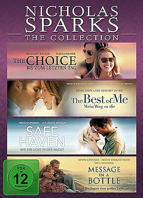 4 DVDs * NICHOLAS SPARKS - THE COLLECTION u.a. CHOICE / BEST OF ME # NEU OVP §