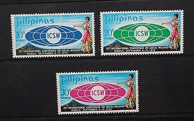 PHILIPPINES 1970 Social Work Conference. Set of 3. Mint Never Hinged. SG1154/56.