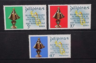 PHILIPPINES 1969 Return of the Holy Child of Leyte. Set of 3. MNH. SG1110/1112.