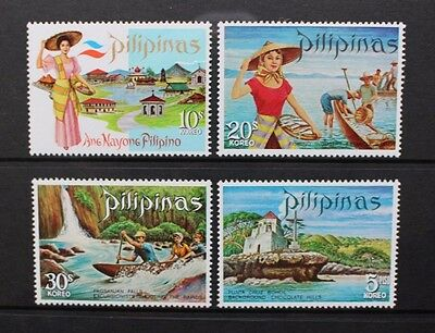 PHILIPPINES 1971 Tourism (2nd series). Set of 4. Mint Never Hinged. SG1186/1189.