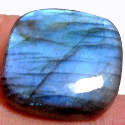 NATURAL OUTSTANDING IRIDESCENT LABRADORITE GEMSTONE (22 x 22 mm) LARGE CUSHION