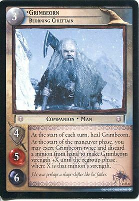 Lord Of The Rings CCG TCG Expanded Middle Earth Card 14R6 Grimbeorn Chieftain