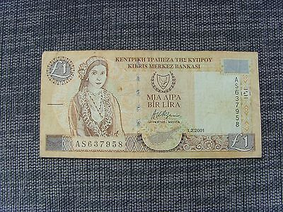 Cyprus £1 one pound note
