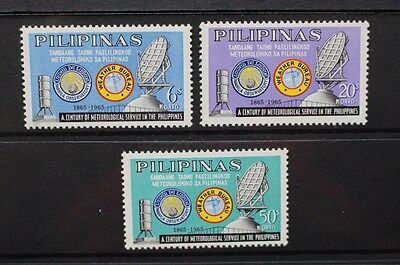 PHILIPPINES 1965 Meteorological Services. Set of 3. Mint Never Hinged. SG986/988
