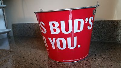 Bar Ice Bucket Budweiser Bud Light Metal Beer Beverage NEW THIS BUD'S FOR YOU