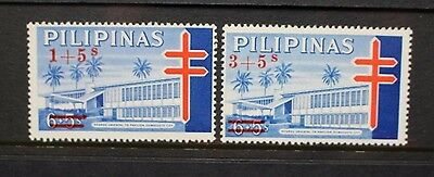 PHILIPPINES 1965 TB Relief Fund Surcharge. Set of 2. Mint Never Hinged SG998/999