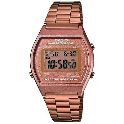 Casio B640WC-5A Classic Digital Watch with Stainless Steel Band - Rose Gold