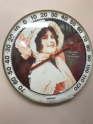Coca Cola Coke Vintage Thermometer Lady