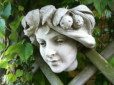 (NEW)Garden Stone Ornaments,Garland Girl,Wall plaque,Wall planter~Beautiful DK