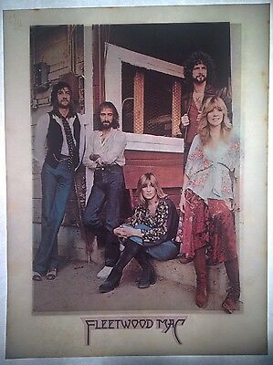 Vintage 70s Fleetwood Mac Iron-On Transfer Porch Stoop Photo with Logo RARE!