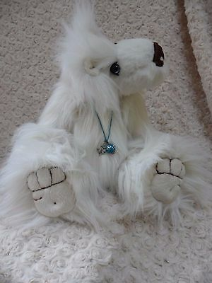 Ooak Artist Polar Bear Atlantic 14inches faux fur by Bearmore Bears