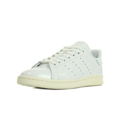Chaussures Baskets adidas femme Stan Smith taille Blanc Blanche Cuir Lacets