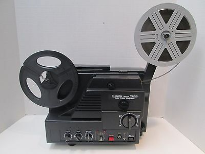 Chinon Sound 7800 Twin Track Super 8mm Projector - New Belt - Excellent!