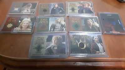 Topps Lord of The Rings Costume Card Lot Rare