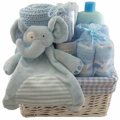 Baby gift basket/hamper packed keepsake box with drawers boy baby shower gift