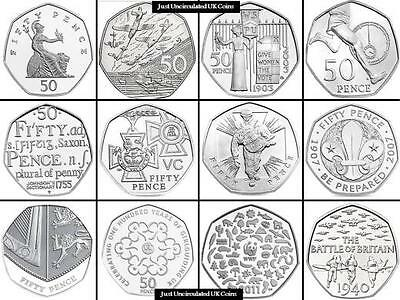 RARE UK and Great Britain Commemorative 50p Coins Choice of year-Coin Hunt