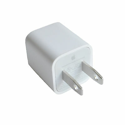 New OEM Authentic Apple 5W USB Power Adapter Charger Wall Plug for iPhone iPod