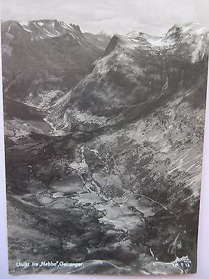Real Photo Postcard Norway, Utsikt Fra, Nebba Geiranger  In Good Condition
