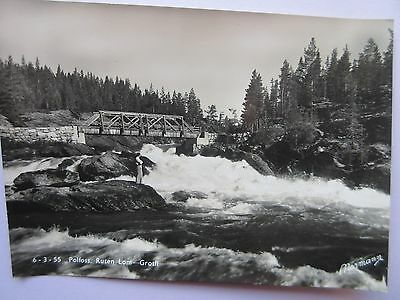 Real Photo Postcard Norway, 6-3-55 Polfoss,ruten Lom-Grotli In Good Condition