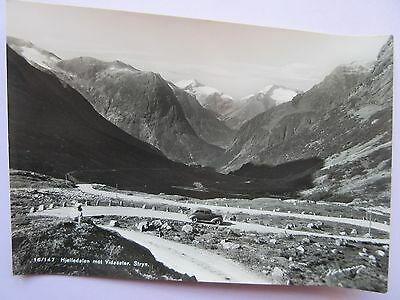 REAL PHOTO POSTCARD NORWAY, 16/147 HJELLEDALEN mot VIDESETER STRYN, IN VGC
