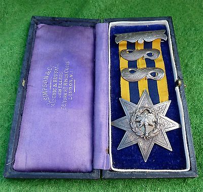 Victorian Silver Masonic Medal Or 'jewel' From General Gordon Lodge Dated 1891