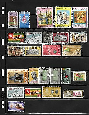 Togo - over 20 Different Used Stamps