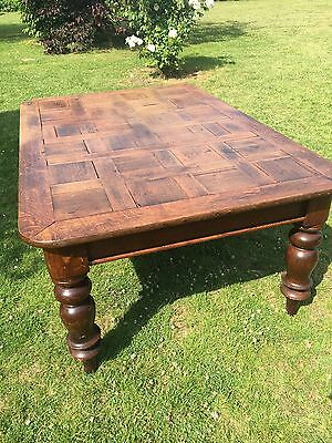 antique Large oak dining table