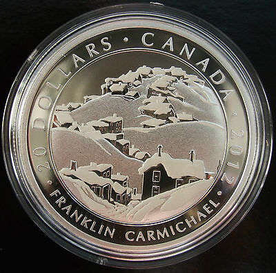 2012 Canada Silver Coin Franklin Carmichael Houses Cobalt, Group of Seve, No Tax