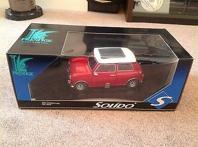 Solido 1:18 Mini Cooper S 1964 In Red With White Roof