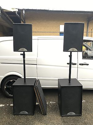 Martin Audio 2 x S15 Subwoofers and 2 x F12 Speakers