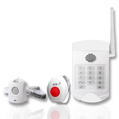 Seniors Home Station Emergency Call System, Includes Necklace and Bracelet Radio