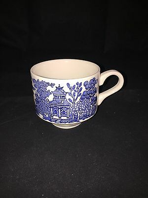 CHURCHILL Blue Willow COFFEE CUP  Made In England