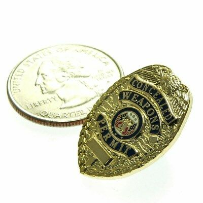 """Concealed Weapons Carry Permit CWP CCP Mini Badge Lapel Pin Tie Tac  1"""""""