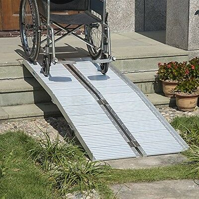 Portable 6ft Folding Aluminum Wheelchair Ramp Scooter Portable Mobility Assist