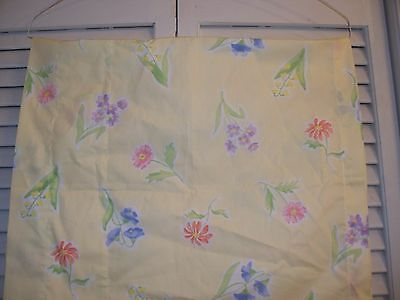 """Laura Ashley Mother And Child Valance 86"""" x 17"""" Yellow Floral"""