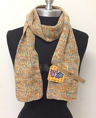 New Kids Winter Warm Soft Knitted long Scarf Wrap Color Orange/Yellow/Blue/White