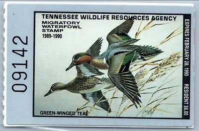 Tennessee Duck Stamp 1989. MNH. VF.